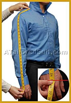 A complete guide for getting men's custom suit measurements.