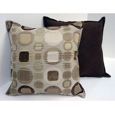 @Overstock - Update your decor with this beautiful set of Sherry Kline pillowsThese throw pillows are great accessories for a sofa or bedroomPillows showcase a Metro design on the front in natural taupe and solid suede backing  http://www.overstock.com/Home-Garden/Sherry-Kline-18-inch-Metro-Taupe-Pillows-Set-of-2/4682422/product.html?CID=214117 $35.49