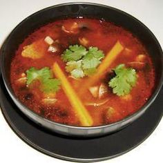 Authentic Thai Tom Yum Soup. Sour and spicy! I like to add shrimp.