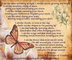 The Bereavement Poem - Comfort - Reassurance - from 'A Pocketful of Comfort' by Mary Jac