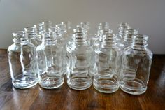 20 Clear Glass Bottles/Bud Vases/Apothecary by TheRegalBoutique, $25.00