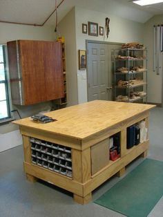 Wood Shop Tables with Storage http://www.woodesigner.net has great advice and tips to woodworking