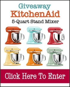 GIVEAWAY: KitchenAid Artisan 5-Quart Stand Mixer ($350 Value) | The Mommypotamus | organic SAHM sharing her family stories and recipes