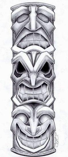 Totem Pole Tattoo Design by SpiderLAW.deviantart.com on @deviantART: