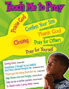 Teaching kids to pray - Would be cute to put this on gloves and then give one glove to each child to wear as a reminder for how/what to pray.