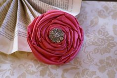 Rolled Sating Flower