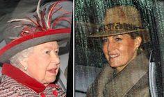 Queen wears festive red for Sunday church in Sandringham - Royal Family UK