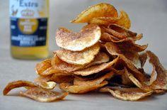 Homemade Barbecue Potato Chips Recipe (Just A Taste) Yummy Snacks, Healthy Snacks, Snack Recipes, Yummy Food, Party Recipes, Tasty, Yummy Recipes, Yummy Yummy, Potato Recipes