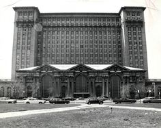 Michigan Central Train Station-back n the day. It was modeled after grand central station in NYC. It had every luxury at the time. Awesome!