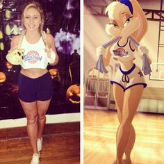 My DIY Lola Bunny Costume. Simple and inexpensive! Perfect for broke college students :)