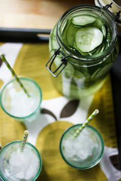 Hydrating Cucumber Water