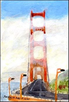 "Daily Paintworks - ""Golden Gate"" - Original Fine Art for Sale - © Patricia Ann Rizzo"