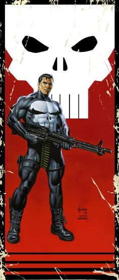 The Punisher by Joe Jusko (after Bill Reinhold) Marvel Comic Universe, Marvel Comics Art, Comics Universe, Marvel Heroes, Captain Marvel, Marvel Marvel, The Punisher, Punisher Comics, Comic Books Art