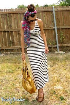 Maxi dress and oversize sunglasses at my blog! #beautybrawler