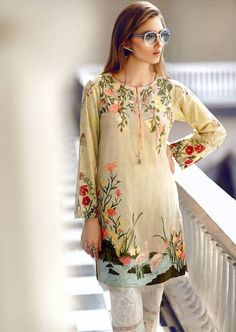 Buy comfort tunics and shirts in Pakistan at Oshi. Book Online affordable tunics and shirts in Karachi, Lahore, Islamabad, Peshawar and All across Pakistan. Pakistani Formal Dresses, Pakistani Bridal Wear, Pakistani Outfits, Kurti Embroidery Design, Embroidery Suits, Mode Bollywood, Bollywood Fashion, Designer Kurtis, Pakistan Fashion