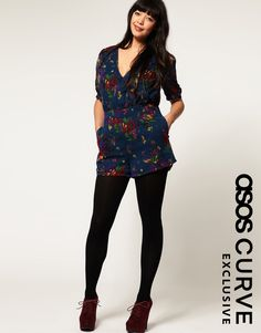 17ac59b7256 Pair a romantic romper with black tights for some winter spirit ...