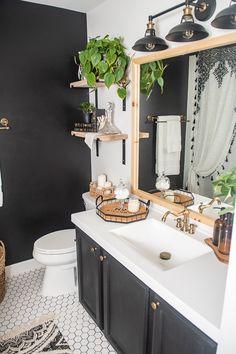Bathroom Styling, Master Bathroom Design, Small Apartment Bathroom, Bathroom Interior Design, Rustic Bathroom Shelves, Decor Essentials, Restroom Decor, Modern Bathrooms Interior, Modern Bathroom Decor