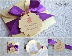 Royal Theme Petal Fold Handmade Wedding Invitation card (craftyfarms.blogspot.com)