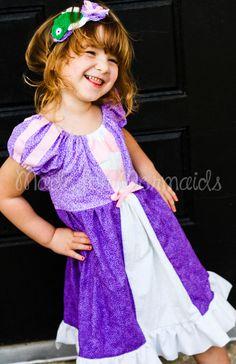 Rapunzel Dress everyday princess PDF Pattern by madeformermaids -- casual princess dress Disneyland Outfit Summer, Disneyland Outfits, Tangled Dress, Rapunzel Dress, Disney Princess Dresses, Disney Dresses, Play Dress, Dress Up, Everyday Princess