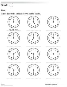 Write sown time as shown in the clock | Download Free Write sown time as shown in the clock for kids | Best Coloring Pages