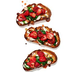 Strawberry-Spinach Ricotta Toasts - Shape.com