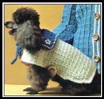 Sailor Dog Coat ~ free crochet pattern and so cute! Dog Sweater Pattern, Crochet Dog Sweater, Crochet Sweaters, Boye Crochet Hooks, Crochet Hook Sizes, Sewing Patterns For Kids, Crochet Patterns For Beginners, Crochet Ideas, Knitting Patterns