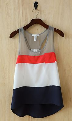 This tank combines feminine and playful, high and low style with a nice loose drape perfect for the summer heat or for layering.