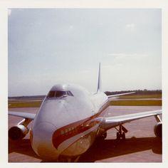 1974 May 20 Manchester Airport World Airways Boeing 747 Jumbo Jet (5)