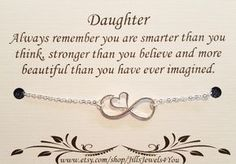 Gifts for daughter from Mom DAUGHTER necklace by SoBlessedDesigns Birthday Quotes For Daughter, Mother Daughter Quotes, Mom Daughter, Daughters, Birthday Wishes For Daughter, Brother Birthday, Brother Sister, Sweet 16 Gifts, Gifts For Mom