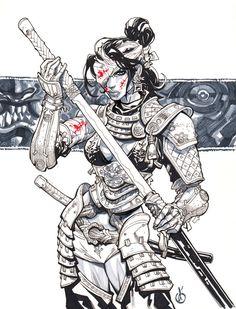 Samuray Girl dos by Chuckdee.deviantart.com on @deviantART