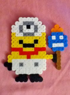 Baby Perler Bead Despicable Me Minion by RainbowMoonShop