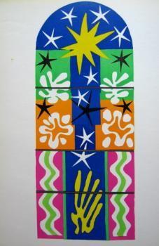 Nuit de Noel by Henri Matisse, 1952-idburyprints.com-this is the original lithograph after a gouache decoupee design for a stained glass window....