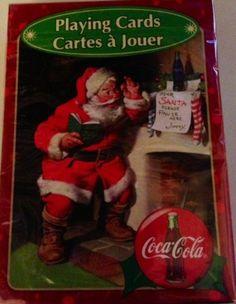 Coke Santa, Coca Cola Santa Claus, Coca Cola Christmas, Bicycle Playing Cards, Vintage Christmas Cards, Deck Of Cards, Polar Bear, Decks, Amazon