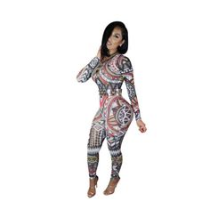 2b078dac3e2 New-Women-Sexy-Mesh-Tribal-Geometric-Print-Keyhole-