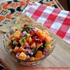 Well Spiced Papaya and Pommegranate Salsa