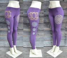 Purple Lotus Flower Leggings  Glow in the Dark by UriahClearLight, $34.00 #yoga
