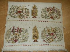 ottoman great embroidery towel with gold metallic threads