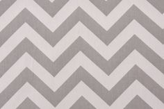 Gray / Grey and White Cotton Twill Zig Zag by TheDizzyTulip, $12.99
