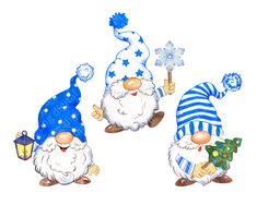 Christmas Tree With Gifts, Christmas Ornaments To Make, Christmas Clipart, Christmas Gnome, Blue Christmas, Outdoor Christmas, Christmas Pictures, Christmas Crafts, Gnome Pictures