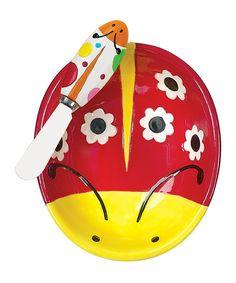 Ladybug Garden Dip Bowl & Spreader Set