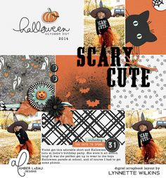 digital scrapbook layout created with Thirty One kit and pocket cards by Sara Gleason and Amber LaBau; Story Grids v.1 by Amber LaBau