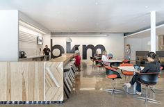 Coalesse Lox Chairs provide comfortable seating in the BKM office cafe.