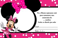 you are invited to shaylee's birthday party 1st Birthday Invitation Template, Minnie Mouse Birthday Invitations, Invitation Layout, Minnie Mouse 1st Birthday, Baby Mickey, Mickey Minnie Mouse, Christening Invitations, 3rd Birthday Parties, Holidays And Events