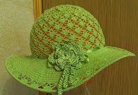 Tina's handicraft : summer green hat