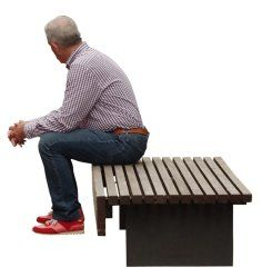 Cutout Man Bench 0001 available for download in L size