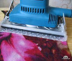 information about using sander in wet felting
