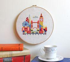Pretty Little London - Cross stitch or needlepoint pattern PDF. $6.00, via Etsy.