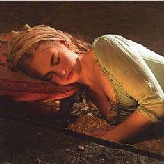 Ella sleeps at the cinders