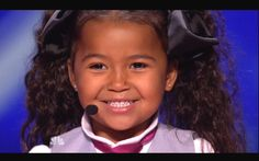 This is sooo cute. Precious little 4 year-old has Jesus in her heart.  Heavenly Joy Jerkins  sings In Summer from Frozen on America's Got Talent