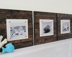 Set of 3 Long and Large 14x24 Plank Frames for by ProjectCottage